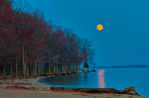 Moonrise at Leesylvania State Park