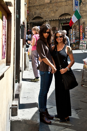 JulieAnne & Amy in Florence